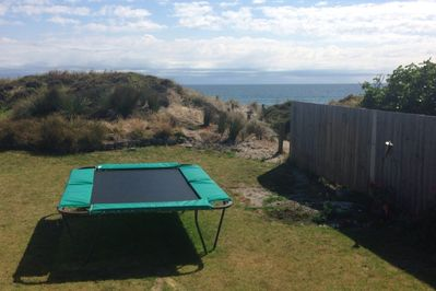 Trampoline and view