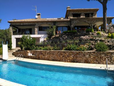Photo for Stunning Hilltop Villa With Private Pool And Panoramic Sea Views