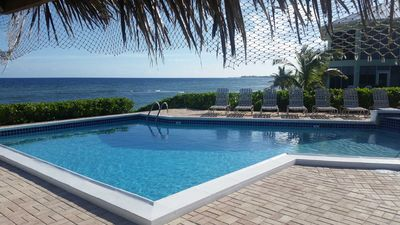 First floor, end unit, direct oceanfront.  Easy access to the beach and pool.