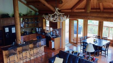 Photo for Luxury Log Home with a View, Private Spa! Sauna & Hot Tub at The Love Nest!
