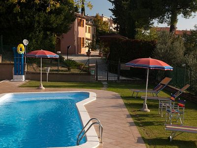 Photo for 7 bedroom Villa, sleeps 12 in Montecarotto with Pool, Air Con and WiFi