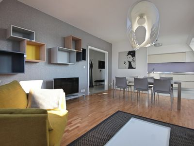 Modern family flat with panoramic view of Prague