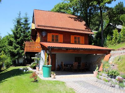 Photo for View of the whole Upper Franconia, sauna, fireplace, parking, garden with fire pit