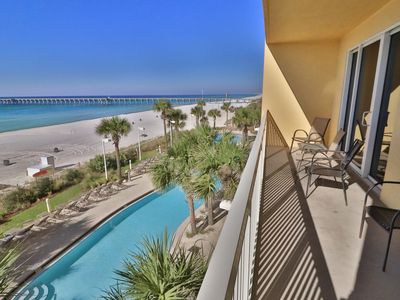 Photo for Calypso 3BR 2 BA 3rd Flr Pier Park Open 3/16-23, 4/6-13  2 Free Beach Chairs