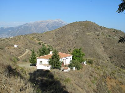Photo for Secluded villa, in the hills above Los Romanes-near Lake Vinuela . andalucia.