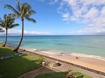 Photo for Oceanfront - Upgraded - Sandy beach at your door step - Two Private Lanais