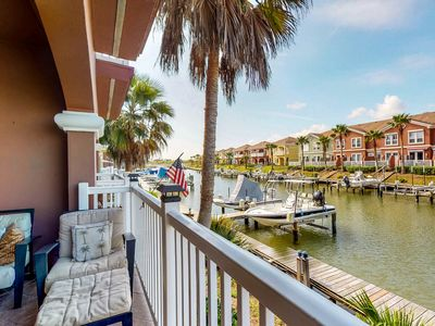 Photo for Charming, waterfront townhouse w/ shared pools, hot tub, dock, & gym!