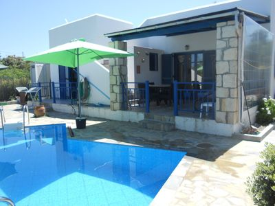 Photo for Beautiful villa with private pool, near beach and Rethymno, north west coast