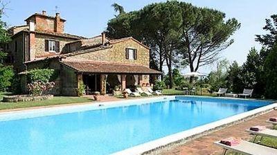 Photo for Charming spacious stone farmhouse in 1500 with private pool