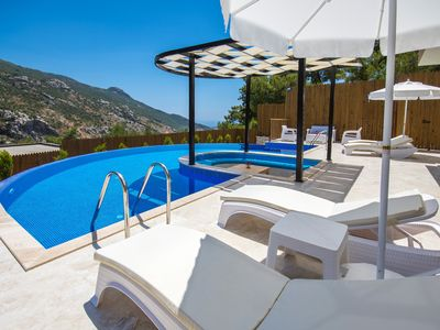 Photo for Secluded Two Bedroom Honeymoon Villa with Large Semi-circular Pool and Jacuzzi