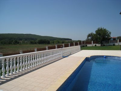 A view from our pool terrace