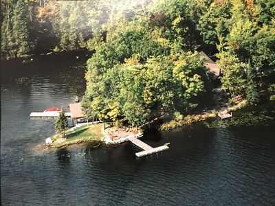 Photo for Stunning Granite Point on Big Bald Lake. 900ft. of Shoreline. 3 Docks.Magical.