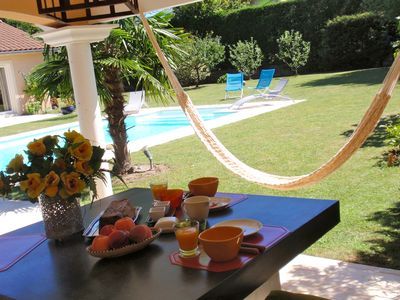 Photo for Clos des pines Brindas - Bed and breakfast quiet property, swimming pool, parking