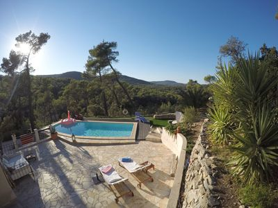 Photo for VILLA - Pool, GreatView, Quiet, Charm, 30min beach