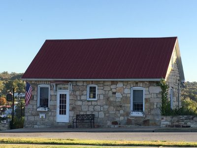 Photo for DeFlorin Stone Cottage Inn, Hermann's Must See Historic Stone House With View!