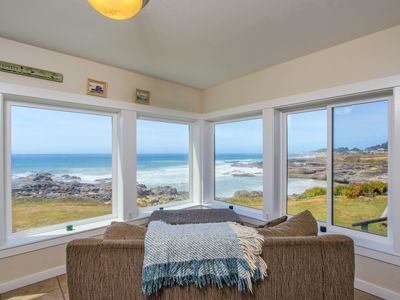 Photo for Spectacular oceanfront home w/ ocean views, private hot tub - dogs welcome!