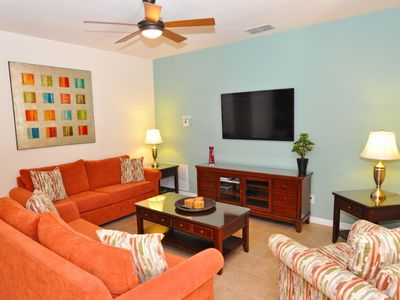 Photo for Near Disney World - Watersong - Feature Packed Spacious 6 Beds 4 Baths Villa - 9 Miles To Disney