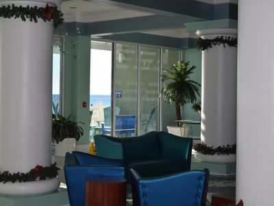 Photo for Luxury Boardwalk Condo with Bunk Beds, Gulf Front