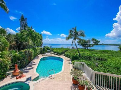 Photo for CAPTIVA BAY FRONT - PRIVATE DOCK IN VILLAGE AREA with private pool, hot tub and boat dock. PLUS $100