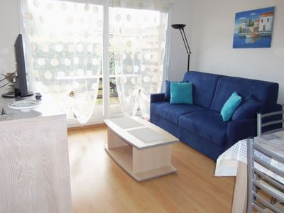 Photo for Apartment T2 cabin 2-6 persons, ground garden, parking in Berck