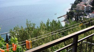 Photo for One bedroom apartment with balcony and sea view Mimice (Omiš)