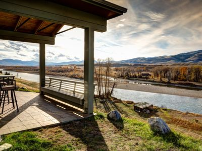 Photo for Rates Reduced! River Front home, Best views in the valley! OPTION TO ADD Tipis**