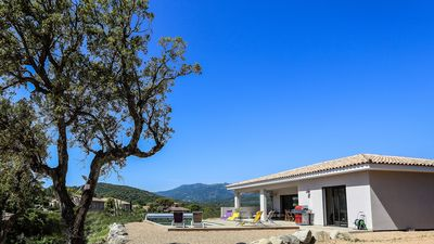 Photo for Villa 180M2 of 2018, heated and secure swimming pool, sea view, 3km Pinarello