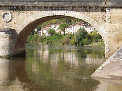 Photo for Town house in popular Dordogne village overlooking river