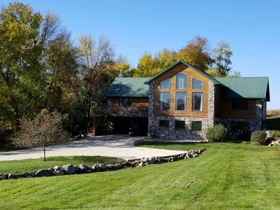 Large Log Cabin located on nearly 2 acres across the road from East Lake Okoboji