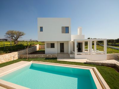 Photo for New Villa Giasemi with Private Pool, 300m from Beach & Amenities+BBQ area!