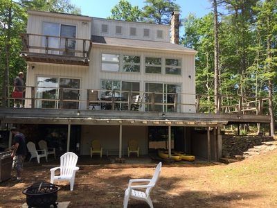 Photo for Lake Arrowhead, Lake Front, Open Concept House, North Waterboro, ME