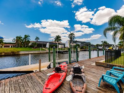 Photo for Sunny  Pool Home in Paradise on a Canal with Gulf Access