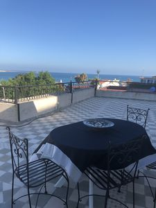 Villa rooftop with magnificent view over the bay of Tangier