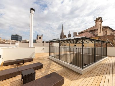 Photo for INCREDIBLE APARTMENT WITH TERRACE IN THE HEART OF BARCELONA NEAR THE CATHEDRAL FOR 3