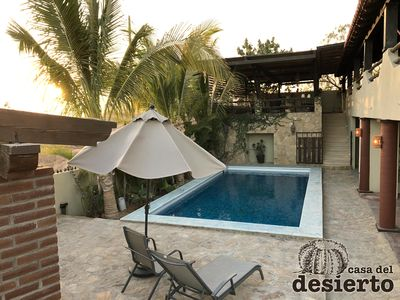 Photo for House with private pool & parking inside: Casa del Desierto, San José del Cabo