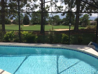 Photo for Fully equiped Disney Southern Dunes Golf front south facing pool home 4 br 3 bat