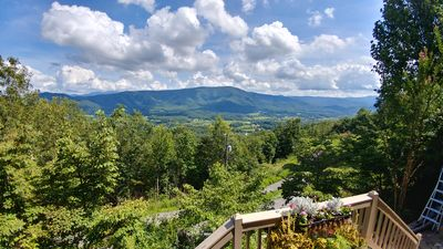 Spectacular Cove Mtn & Wears Valley from front deck