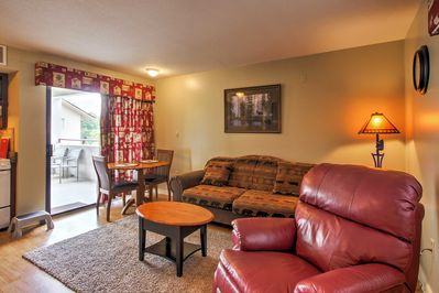 The charming condo is equipped with all the comforts and amenities of home.