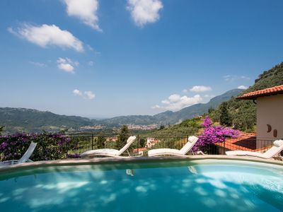 Photo for Panoramic villa with pool near the Tuscan coast