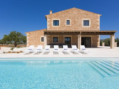 Photo for Luxury countryside modern private villa near Santanyi and best island beaches.