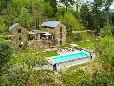 Photo for Luxury Mas entirely built of local stone and chestnut with exceptional views and private pool