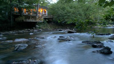 Photo for Peaceful riverfront retreat near Asheville dining, nightlife and activities