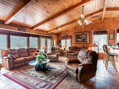 Photo for Spacious Smoky Mountains Cabin w Fireplace, Full Kitchen, W/D