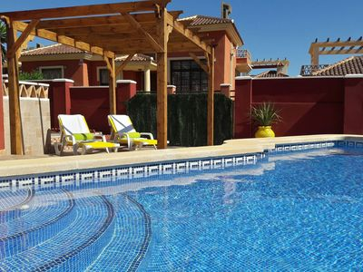 Photo for 5★ LUXURY: VILLA CRISPIN - PRIVATE POOL, BBQ,FREE WIFI. (nr. Golf & Beach)