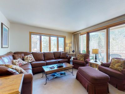 Photo for NEW LISTING! Walk to the slopes & restaurants, relax in community pool & hot tub