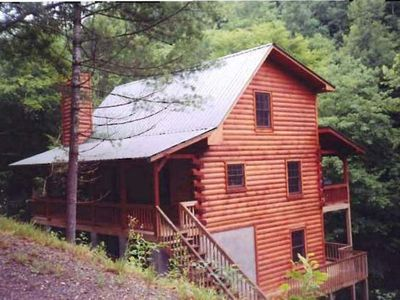 Photo for Creekfront Home- Cozy And Private! Tusquittee- Hayesville NC