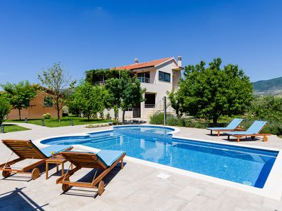 Photo for Villa Buble - Charming villa with pool near Trogir and 60 meters from sea