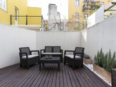 Photo for City center with terrace apartment at Principe Real