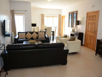 Photo for Stunning 3 bedroom appartment. Pool. Gym. Large private sun terraces. Free Wi-fi