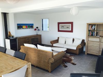 Photo for contemporary house of 160 m2,8 to 9 people, views of the sea